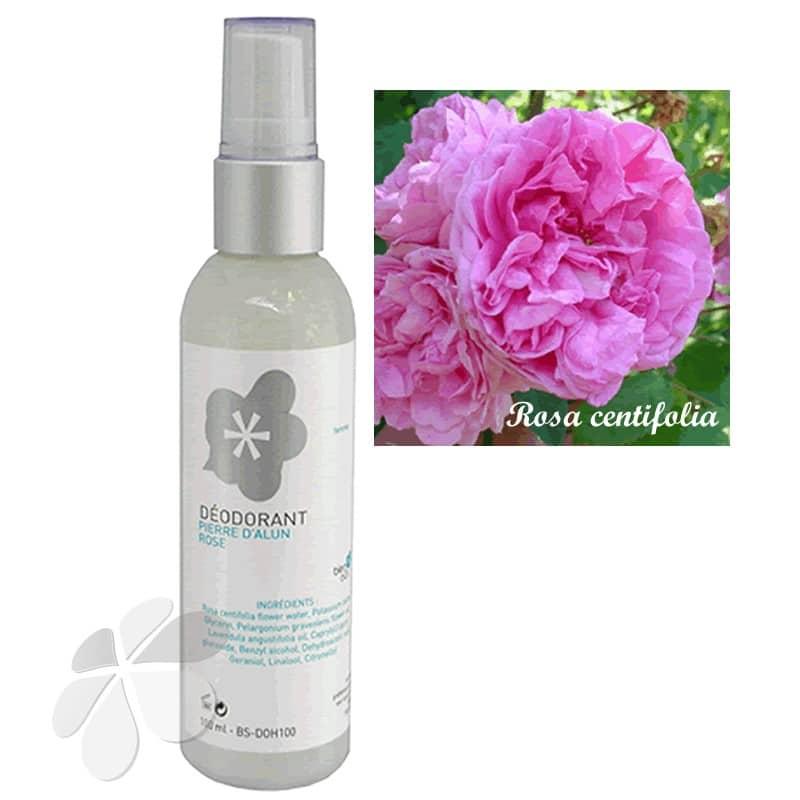 Deodorant Pierre d'alun Eau Florale de rose pour femme